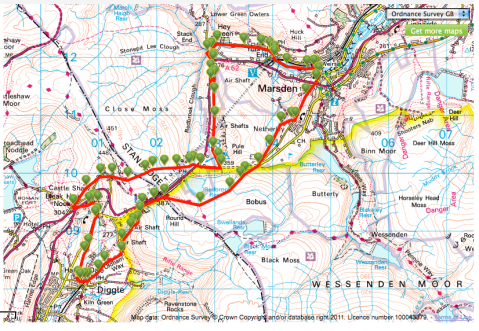 Map of Standedge Trail