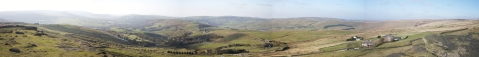 panorama photo of view towards Denshaw