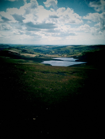 Looking towards Castleshaw Reservoirs