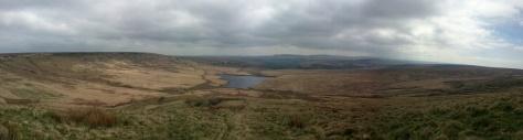 March Hill Marsden Moors hike Hiking Panorama Yorkshire Walking rambling