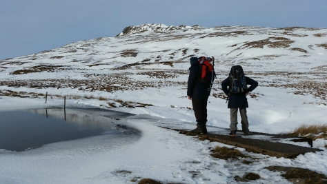 Sgiath Chuill Munro Scotland Hike Winter