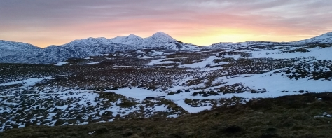 Sgiath Chuill SunsetMunro Scotland Hike Winter