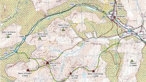 Beinn Dubhchraig Map