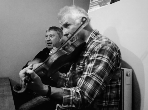 Snowdon Yr Wyddfa Llanberis Path Hike March2015 Live music fiddle and uke