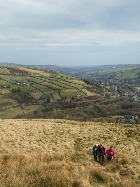 Marsden Poetry Trail up Pule Hill and across Moor