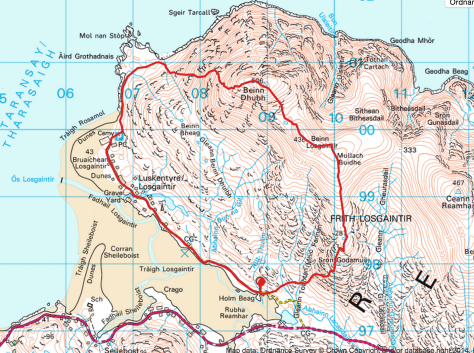 Beinn Dhubh hike map route