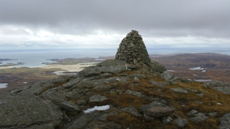 The cairn on Suaineabhal isle of lewis