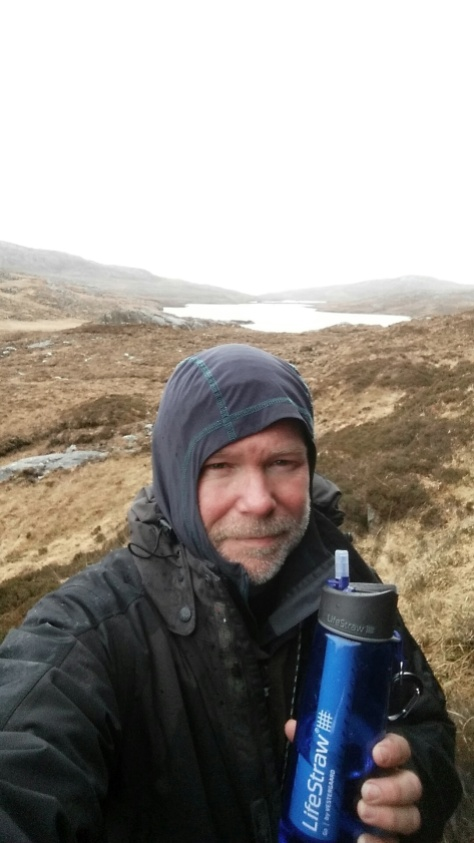 LifeStraw Go bottle in use on a hike