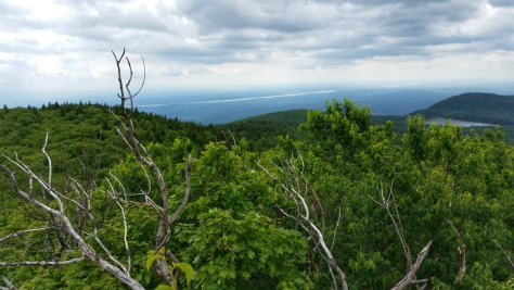Hudson River from North Point Catskills Mountains view